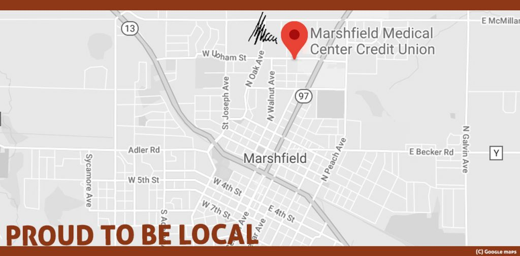 Local credit union map image