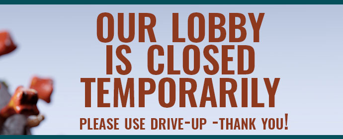 Lobby closed banner