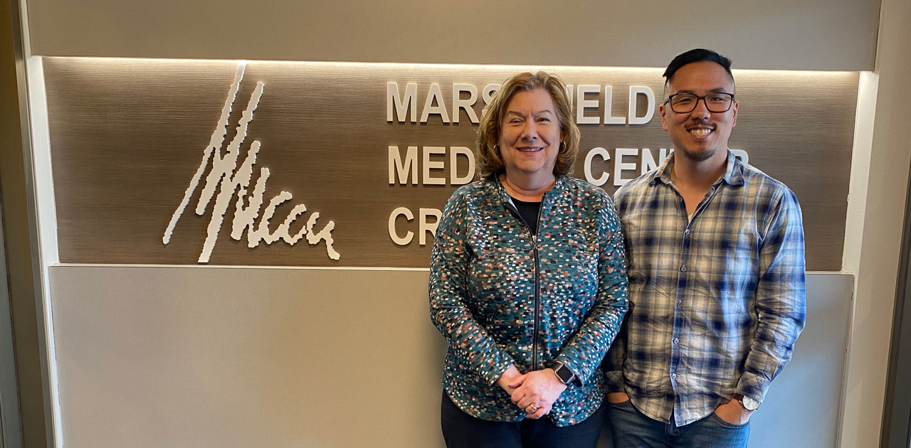 Carol Adler and David Murphy at MMCCU