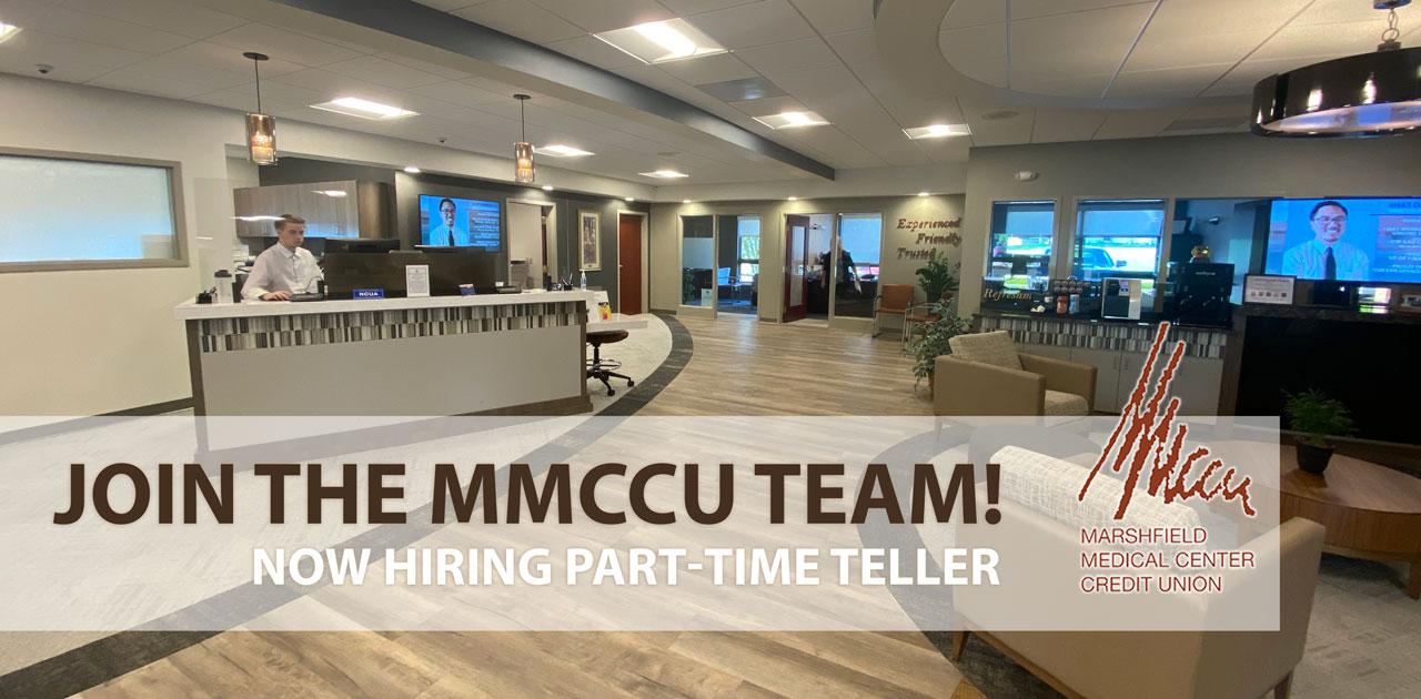 hiring part time teller
